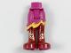 Part No: 20380c00pb05  Name: Mini Doll Hips and Asymmetric Layered Skirt Short, Medium Orange Ruffle, Long Dark Red Boots with Gold Fire Filigree Pattern
