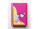 Part No: 33009pb040  Name: Minifigure, Utensil Book 2 x 3 with Butterflies and Heart Lock Pattern (Sticker) - Set 3315