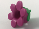 Part No: 35762pb01  Name: Minifigure, Headgear Head Cover, Costume Flower with Green Bud Pattern