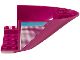 Part No: 87616pb014R  Name: Aircraft Fuselage Aft Section Curved Bottom 6 x 10 with Medium Azure Stripe and White Fading Dots Pattern Model Right Side (Sticker) - Set 41317