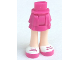 Part No: 92250c00pb01  Name: Mini Doll Friends Hips and Layered Skirt, Light Nougat Legs and Magenta Shoes with White Tops and 2 Magenta Laces Pattern
