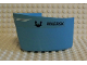 Part No: x145c02pb01  Name: Boat Hull Smooth Bow 5 x 6 x 3 1/3, Deck Color White with Maersk Pattern (Sticker) - Set 1650