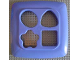 Part No: 44657  Name: Primo Bucket Lid for Stack 'n' Learn Sorter with Cut Out Shapes