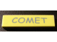 Part No: 2431pb117  Name: Tile 1 x 4 with 'COMET' Pattern (Sticker) - Set 5941