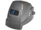 Part No: 13792pb01  Name: Minifigure, Headgear Helmet Welding with Dark Blue Stripes on Black Visor Pattern