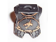 Part No: 2587pb26  Name: Minifigure Armor Breastplate with Leg Protection, Kingdoms Dragon Head and Belt Pattern