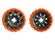 Part No: 45793c02  Name: Wheel 60 x 34 with Orange Tire 81 x 40 Balloon Offset Tread