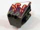 Part No: 49817pb01  Name: Technic, Panel RC Car Mudguard Front, Right with Flame Pattern (Sticker) - Set 8676
