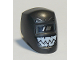 Part No: 65195pb04  Name: Minifigure, Visor Welding with Black and White Viewing Lens and White Teeth Pattern