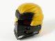 Part No: 66953pb07  Name: Minifigure, Headgear Ninjago Wrap Type 7 with 4 Slits on Front and Pearl Gold Fabric Pattern