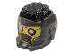 Part No: 80801pb01  Name: Minifigure, Headgear Helmet Space Wraparound with Black Hair on Top, Breathing Vents and Purple Rimmed Eye Holes Pattern (Star-Lord)