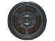 Part No: 91884pb005  Name: Minifigure, Shield Round with Stud and Ring Around Edge with Rivets and Circular Wood Planking Pattern
