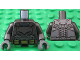 Part No: 973pb2201c01  Name: Torso Batman Logo with Body Armor and Gold Belt Pattern / Pearl Dark Gray Arms / Dark Bluish Gray Hands