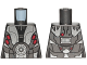 Part No: 973pb2837  Name: Torso SW Armor M-OC Hunter Droid with Silver and Red Pattern