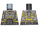 Part No: 973pb3810  Name: Torso Armor, Silver and Bright Light Orange Highlights and Silver 'AIM' Pattern