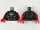 Part No: 973pb3955c01  Name: Torso Armor, Dark Silver Plates, Silver Trim and Metallic Light Blue Circle Arc Reactor Pattern / Dark Red Arms / Red Hands