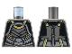 Part No: 973pb4415  Name: Torso Female Armor, Silver Plates, Gold Trim Pattern