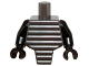 Part No: 98127c01  Name: Torso, Modified Short with Ridged Armor / Black Arms / Black Hands