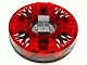 Part No: bb0549c16pb01  Name: Turntable 6 x 6 Round Base Serrated with Trans-Red Top with Black and White Pattern (Ninjago Spinner)