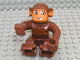 Part No: 2281px1  Name: Duplo Monkey, Earth Orange Face and Ears, Eyes Looking Left