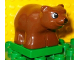 Part No: 2334c02pb02  Name: Duplo Bear Cub First Version on Green Base
