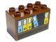 Part No: 31111pb016  Name: Duplo, Brick 2 x 4 x 2 with Bookcase & Files Pattern