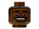 Part No: 3626bpb0131  Name: Minifigure, Head NBA Kobe Bryant Pattern - Blocked Open Stud