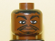 Part No: 3626bpb0140  Name: Minifigure, Head NBA Allen Iverson Pattern - Blocked Open Stud
