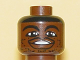 Part No: 3626bpb0141  Name: Minifigure, Head NBA Steve Francis Pattern - Blocked Open Stud