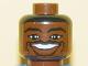 Part No: 3626bpb0144  Name: Minifigure, Head NBA Allan Houston Pattern - Blocked Open Stud
