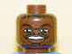 Part No: 3626bpb0147  Name: Minifigure, Head NBA Jerry Stackhouse Pattern - Blocked Open Stud