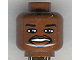 Part No: 3626bpb0152  Name: Minifigure, Head NBA Shaquille O'Neal Pattern - Blocked Open Stud
