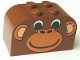 Part No: 4744px1  Name: Slope, Curved 4 x 2 x 2 Double with Four Studs with Monkey Face Pattern