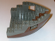 Part No: 6051c05  Name: Boat Hull Small Bow 12 x 12 x 5 1/3, Top Color Dark Gray