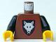 Part No: 973p44c02  Name: Torso Castle Wolfpack Pattern / Black Arms / Yellow Hands