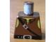 Part No: 973pb0093  Name: Torso Castle Dark Forestman Tie Shirt and Black Crossbelt Pattern