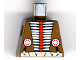Part No: 973px107  Name: Torso Western Indians Red and White Armor and White Belt Pattern