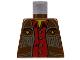 Part No: 973px53  Name: Torso Western Cowboy Fringe Vest, Gold Stars and Red Shirt Pattern