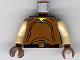 Part No: 973px89c01  Name: Torso SW Loose Shirt, Black Belt and Silver Buckle Pattern (Naboo) / Tan Arms / Brown Hands