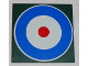 Part No: 10202pb002  Name: Tile 6 x 6 with Bottom Tubes with Blue Circle and Red Dot (British Roundel) Pattern (Sticker) - Set 10226