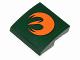 Part No: 15068pb018L  Name: Slope, Curved 2 x 2 with Orange Rebels Insignia Pattern Model Left Side (Sticker) - Set 75090