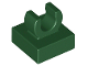 Part No: 15712  Name: Tile, Modified 1 x 1 with Open O Clip