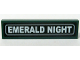 Part No: 2431pb071  Name: Tile 1 x 4 with White 'EMERALD NIGHT' Pattern (Sticker) - Set 10194