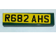 Part No: 2431pb568  Name: Tile 1 x 4 with 'R682 AHS' License Plate on Yellow Background Pattern (Sticker) - Set 10242