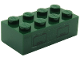 Part No: 3001pb095  Name: Brick 2 x 4 with 2 Hatches on Clear Background Pattern (Sticker) - Set 7626