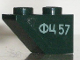 Part No: 3665pb005R  Name: Slope, Inverted 45 2 x 1 with Russian 'ФЦ 57' Pattern Model Right (Sticker) - Set 7625