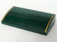 Part No: 61068pb001  Name: Slope, Curved 2 x 4 x 2/3 without Bottom Tubes with Two Gold Stripes Pattern - Set 10194