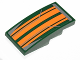 Part No: 93606pb030  Name: Slope, Curved 4 x 2 with Orange Stripes Pattern (Sticker) - Set 75090