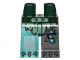Part No: 970d22pb01  Name: Minifigure, Legs with Hips - 1 Dark Bluish Gray Left Leg, 1 Trans-Light Blue Right Leg with Sand Green Scaled Armor and Scars Pattern