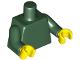 Part No: 973c51  Name: Torso Plain / Dark Green Arms / Yellow Hands